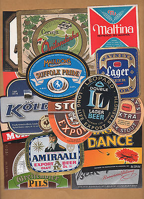 BIG SET OF 380 OLD, NEW, HARD TO FIND WORLDWIDE BEER LABELS  !!!