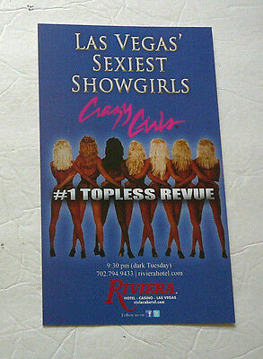 RIVIERA CASINO & HOTEL TOPLESS REVUE LARGE SEXY SHOW GIRLS COUNTER TOP STANDEE