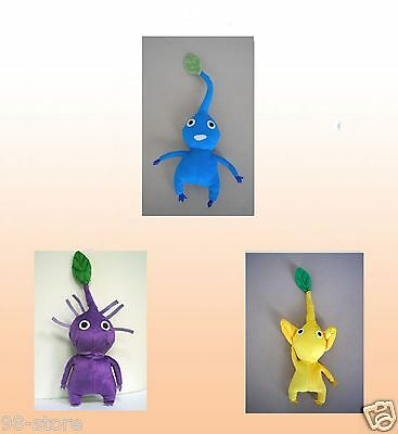 """12"""" Handmade PIKMIN 2 Plush Doll  Leaf Collection 3 dolls great X'mas gift"""
