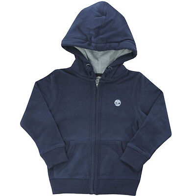 Timberland Zip Up Hooded Boys Children Kids Navy Cardigan Jumper (T0205 410 R3)