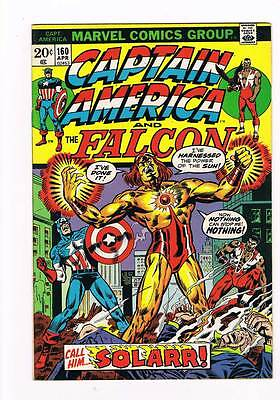 Captain America # 160  Call him..Solarr grade 8.0 movie super scarce hot book !!