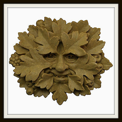 The Hawthorn Green Man ~ Greenman Wall Plaque ~ Garden Or Indoors ~ Uk Made
