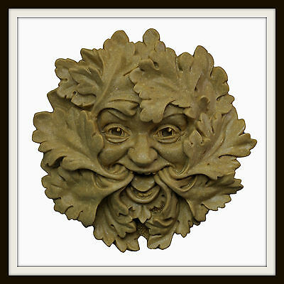 The Green Leaf Green Man ~ Greenman Wall Plaque ~ Garden Or Indoors ~ Uk Made