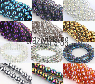 Wholesale Charm Round Czech Crystal Glass Loose Spacer Beads Making 6/8/10/12mm