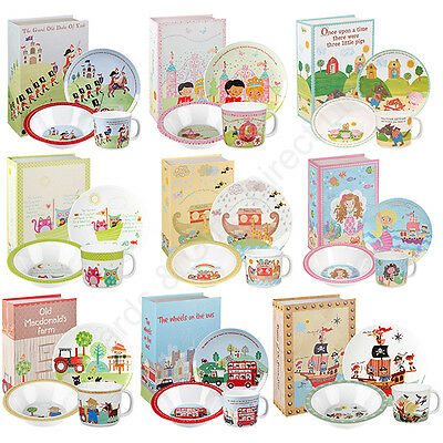 Churchill 3 Piece China Breakfast Set Bowl Plate Mug Nursery Rhymes Boy Girl
