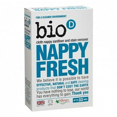 Bio-D Nappy Fresh 500g In Wash Nappy Sanitiser and Stain Remover Up to 33 Uses