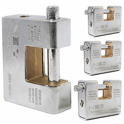 ULTRA HEAVY DUTY ARMOURED SHUTTER PADLOCK Large Thick Security Container Lock