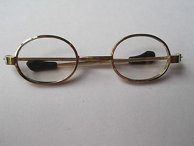 DOLL / TEDDY GOLD RIMMED  OVAL FRAMED GLASSES Small  Medium and Large
