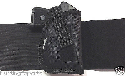Ruger LCP380 with Laser   Concealed Ankle Holster   RH Black Nylon WANK 1LZ