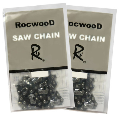 """2 x 18"""" Saw Chains Fits Chinese Import 4500 & 5200 Chainsaw With .325 Chain"""