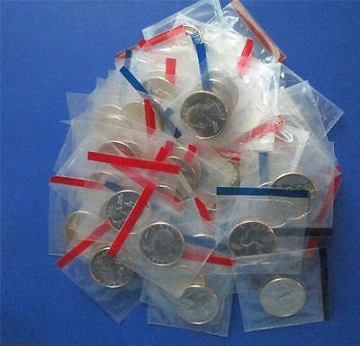 Lot Of 100 Uncirculated Washington Quarters In Mint Cello From Mint Sets