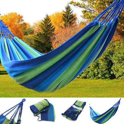 Portable Travel Outdoor Swing Parachute Nylon Fabric Hammock Camping Hanging Bed