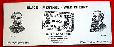 Smith Brothers Cough Drops Advertising Ink Blotter Toronto Ontario Canada  u