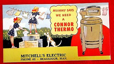 Connor Thermo Washer Ink blotter Style #1 Mitchell Electric Beausejour ppu