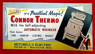 Connor Thermo Washer Ink blotter Style #2 Mitchell Electric Beausejour ppu