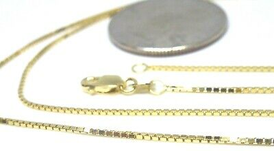 10kt Solid Yellow Gold 24 inch 1MM BOX CHAIN-LOBSTER LOCK.......100% Guaranteed!