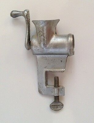 SMALL VINTAGE METAL MEAT GRINDER DOLL CHILD'S TOY KITCHEN