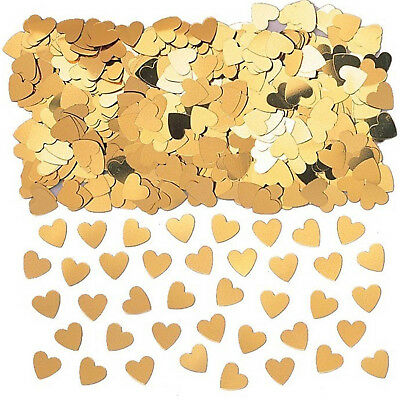 Gold Hearts Table Confetti Wedding Engagement Anniversary Party Decorations