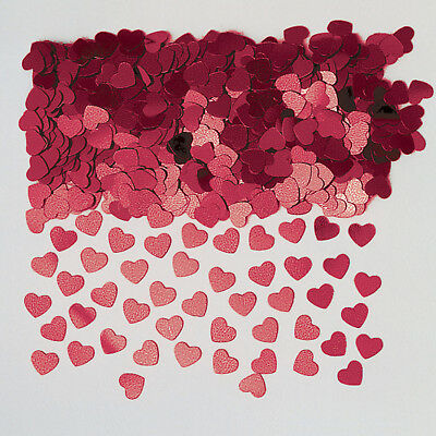 Burgundy Dark Red Heart Table Confetti Engagement Party Decoration Valentine Day