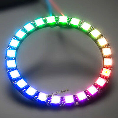 Adafruit NeoPixel Ring 24 x WS2812 5050 RGB LED with Integrated Drivers Board
