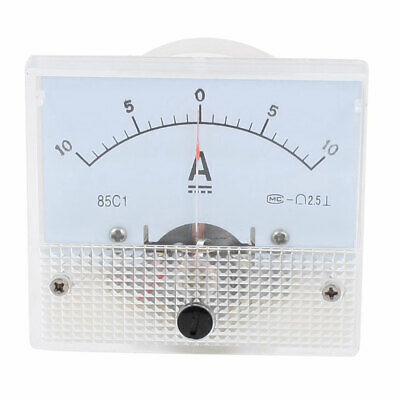85C1 DC -10 to +10A Class 2.5 Accuracy Panel Mounted Analog Ammeter Ampere Meter