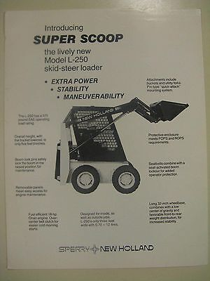 Sperry New Holland L250 Skid Steer Loader Intro Sales Brochure