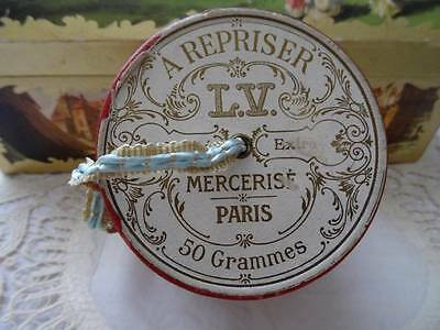 An Exquisite Antique French Ribbon/String Box with Original Brocade