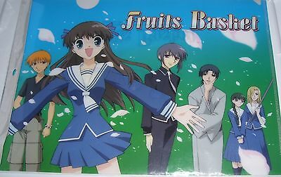 "Nip Retired Art Takaya Fruits Basket Clear File Folder ""springtime"" 2001"