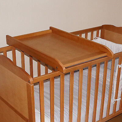 New 4Baby Country Pine Wood Cot / Cotbed Top Changer Baby Changing Station