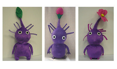 "12"" Handmade PIKMIN Purple Plush Doll Collection 3 dolls Thanksgiving Christmas"
