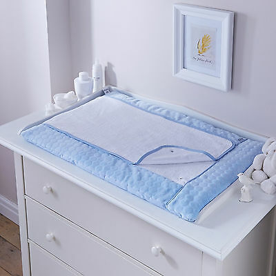 New Clair De Lune Marshmallow Blue Padded Baby Boys Changing Mat With Cover