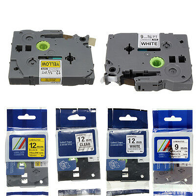 Yellow/White/Clear Label Tape for Brother P-Touch TZe221 TZ-131 TZe 6 9mm/12mm
