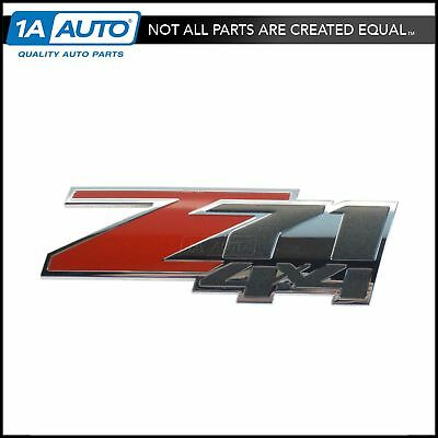 OEM Z71 4X4 Nameplate Emblem Body Side Chrome & Red for GM SUV New