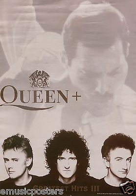"QUEEN / FREDDIE MERCURY ""GREATEST III"" U.K. PROMO POSTER - Classic Rock Music"