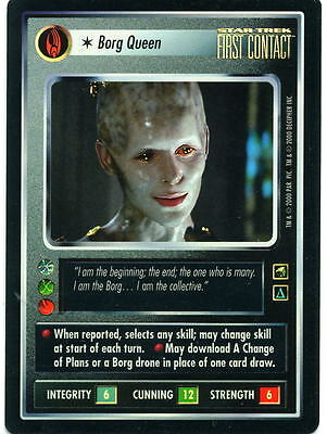 Star Trek CCG Reflections; Borg Queen, Foil Card Nr/Mint Condition.
