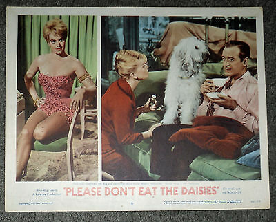 PLEASE DON'T EAT THE DAISIES orig lobby card movie poster DORIS DAY/JANIS PAIGE