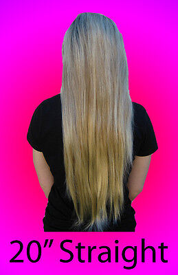 "20"" Straight Clip-In Half Extension Piece *Hot HairDo*  ~Feels like Human Hair~"