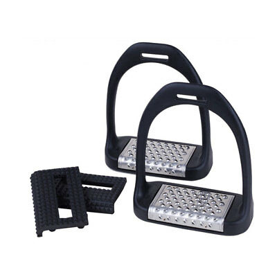 "Royal Rider Jump 25 Classic Lightweight Stirrups BLACK 4.75"" +Worldwide Shipping"