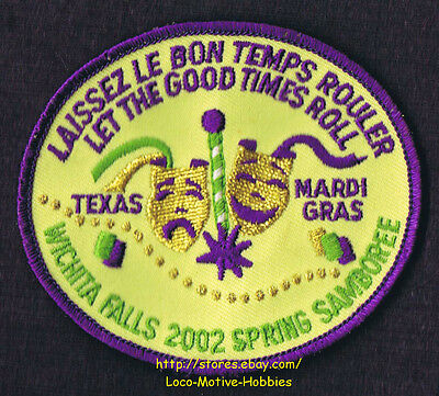 Lmh Patch 2002 Good Sam Club Samboree Wichita Falls Tx Mardi Gras Spring Event 3 29 Picclick