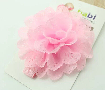 Baby Cute Girl Flower Hairband Soft Elastic Headband Hair Accessories Band Pink