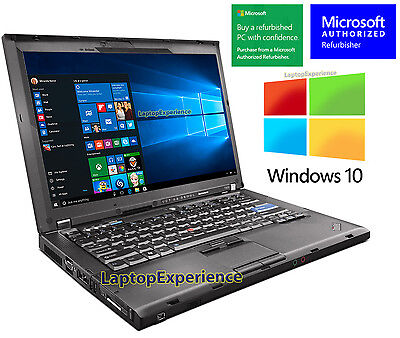 IBM LENOVO LAPTOP THINKPAD T400 WINDOWS 10 WIN DVDRW WiFi CORE 2 DUO 2.26GHz PC