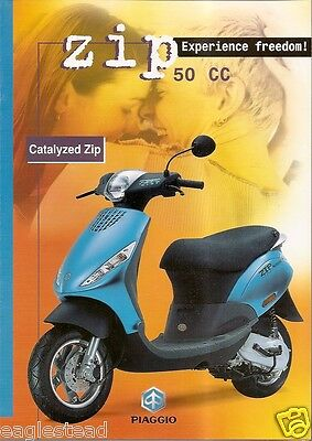 Scooter Brochure - Piaggio - Zip Catalyzed (DC369)