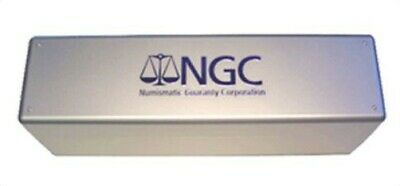 Official NGC 20 Graded Coin Slab Metallic Gray Plastic Storage Box