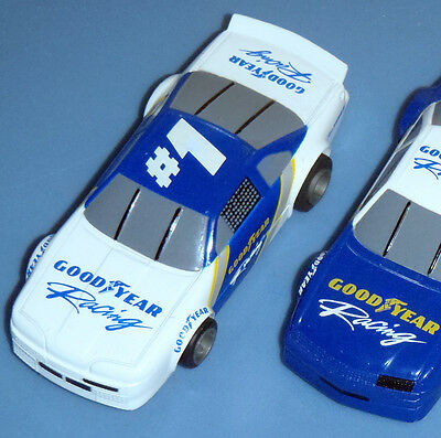 ★GOOD YEAR RACING★WHITE/BLUE #1★ NASCAR SET ONLY LIFELIKE HO SLOT CARS RARE PAIR
