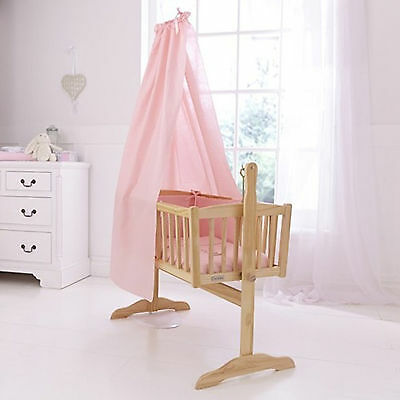 New Clair De Lune Pink Cot / Cot Bed / Crib Free Standing Drape Set