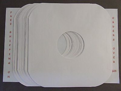 20 White Paper  Inner Lp Record Sleeves Rounded Corner  #20 Paper Acid Free