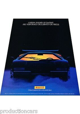 1989 1990 Lamborghini Countach 25th Pirelli Tires Advertisement Print Ad P63
