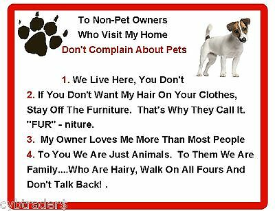 Funny Dog Jack Russell Terrier House Rules Refrigerator / Magnet Gift Card Idea