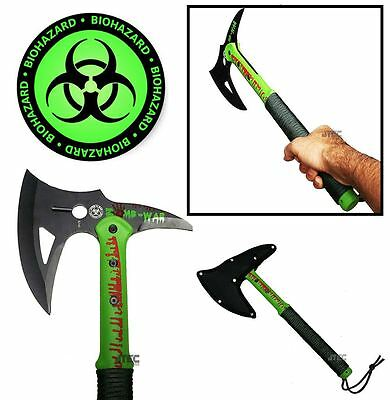 """16"""" ZOMBIE SURVIVAL CAMPING TOMAHAWK THROWING AXE BATTLE Hatchet hunting ZN40"""