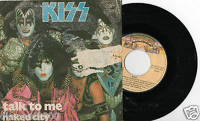 """KISS - Talk To Me / Naked City, SG 7"""" SPAIN 1980"""